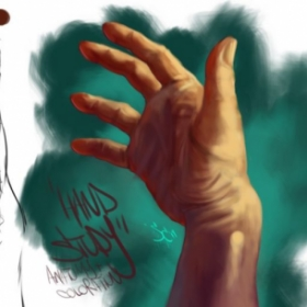 Digital Painting Hand Study