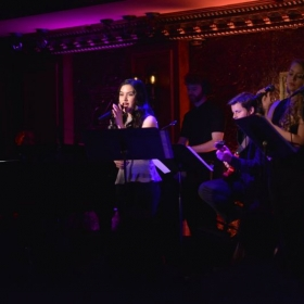 Kacey performing at 54 Below in NYC.