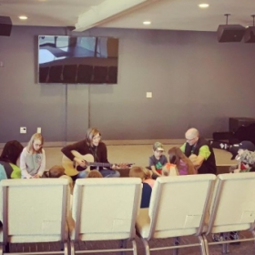 A contemplative worship session in kids ministry.
