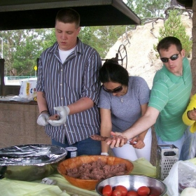 Making Koobideh Kebob with my students