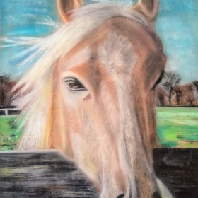 Pastel on Brown Kraft Paper