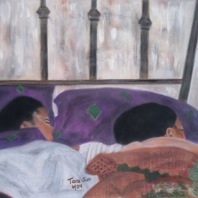 Pastels on paper