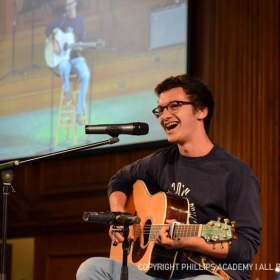 Performing at all-school meeting at Phillips Academy in Andover, MA. This was one of my last performances (of many...) at Phillips.