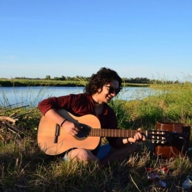 Playing guitar on a weekend trip to an estancia outside Buenos Aires during my semester abroad in Argentina!