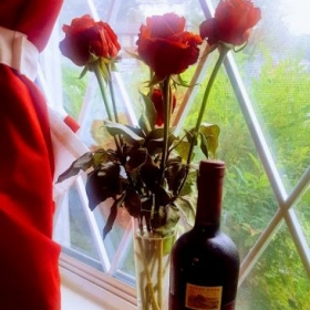 Persian Style Shiraz Wine and Roses