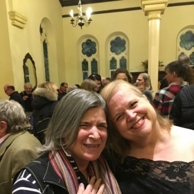 Me with my good friend, Gina, after a performance of Handel's Messiah, December 2019.