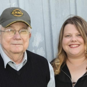 This is me & my Grandfather.  He's a Korean War Vet, retired teacher, & biggest supporter.  I always wanted to be a teacher like him.