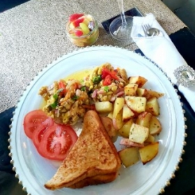 Ackee with salt fish
