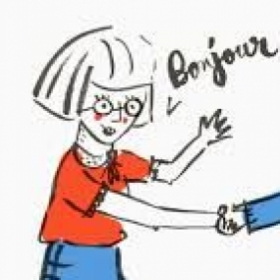 """Bonjour is an easy way to say """"HI"""" in French!"""