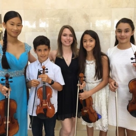 With some of my students after their spring recital
