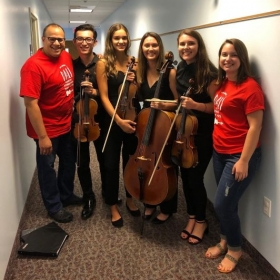 One of the student chamber groups I had the pleasure of coaching at a summer festival, after their final performance.