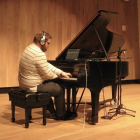 Jared L. Knight performing Now is the Time (2018) for piano and live electronics.