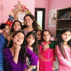With some of my students.
