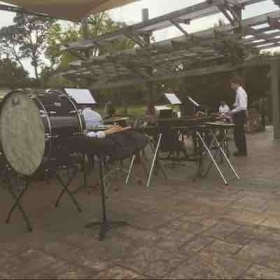 Outdoor performance with the Florida Youth Symphony Orchestra.