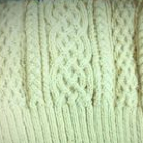 Aran cable sweater