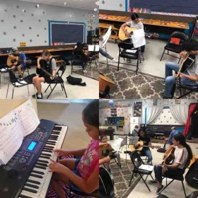 A few  of my students preparing for the Summer recital.