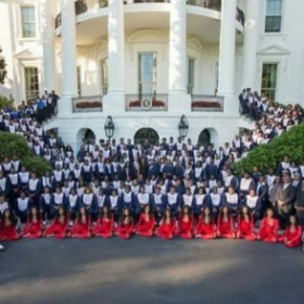 Performing at the White House