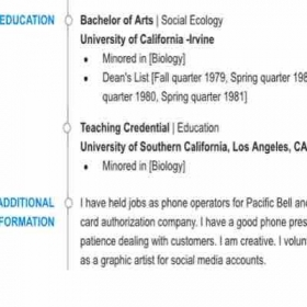 Page 2 of resume.