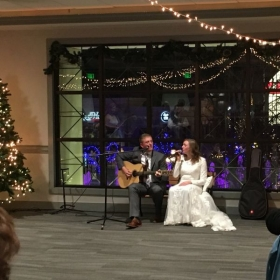 Me and my husband performed together at our wedding reception.