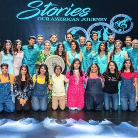 Some of the cast from our nationally touring show, Stories.