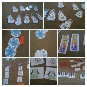 Some of the winter piano games.