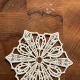 Free standing lace snowflake Christmas ornament