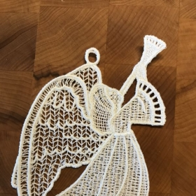 Free standing lace Angel Christmas ornament