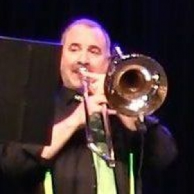 Playing tenor in a Jazz combo at Portland Museum of Art