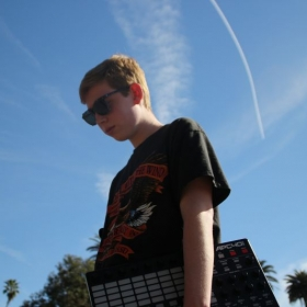 Me and my favorite Ableton controller - the Akai APC40!