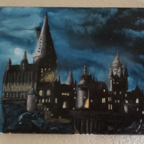 Hogwarts - Oil Paint