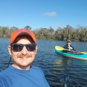 Destini and I love the outdoors. This is from our kayaking trip in Florida in December, 2019.