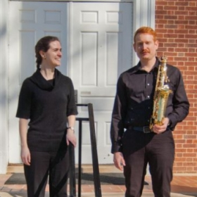Meet the Uwharrie Duo - Zoey Brouthers (left) and Nick Stow (right). A fun collaboration of saxophone and piano chamber music. 01/20.