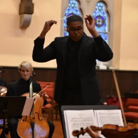 Na'Zir with the Center City Chamber Orchestra. 