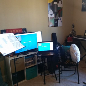 "Getting the ""set up"" all together. Being a student myself, everything's still a working progress!"