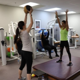 Training my clients during a MDFit Bootcamp session.