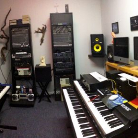 My in-house recording studio where we can do some recordings of music learned and have a CD made.