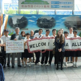 Welcomed at the airport as one of the first exchange students to Iyo, Ehime Japan when I was 16.
