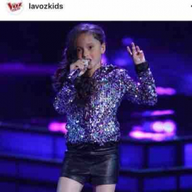 Custom Sequence Jacket Designed and created by Melissa George. ( La Voz Kids Season 4)