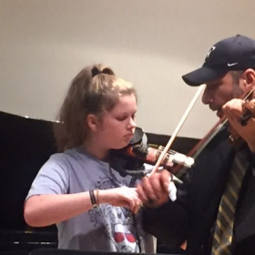 Master class at Peabody institute, string department.
