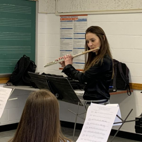 Performing  Bozza: Image for Morehead State Honor band flute sections February 2020