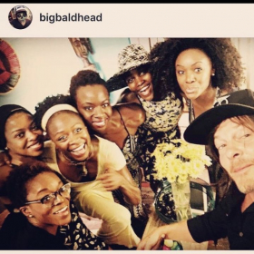 """The original cast of """"Eclipsed"""" Broadway on an evening I went on in one of the leading roles"""