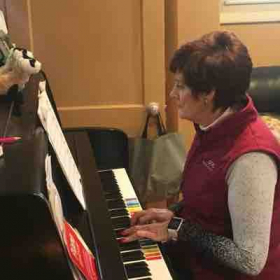 One of the beginning piano students, first instrument!