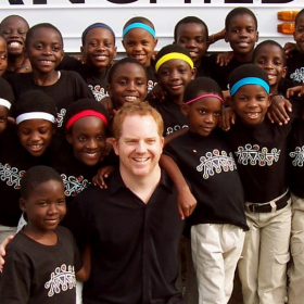 Recording with The African Children's Choir.