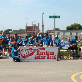 My posse and I after marching through Aurora Illinois!