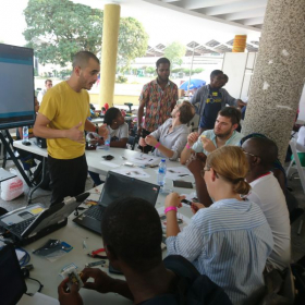 A workshop about the Internet of things in Accra, Ghana.