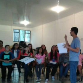 Teaching and Performing with the Children's Choir of the Music School of San Pablo de Heredia, Costa Rica 2017