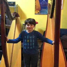 Pedal and lever harp lessons available!