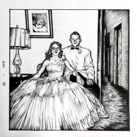 Prom 1957 - Ink on paper