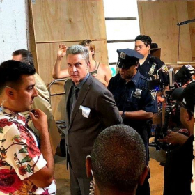 Shooting a scene on 'Made In Chinatown' (2018)