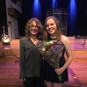 A successful Senior Concert! (former voice student)